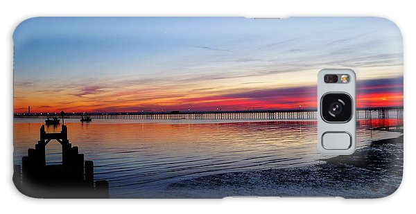 Sunset On The Shore Of Southend Galaxy Case
