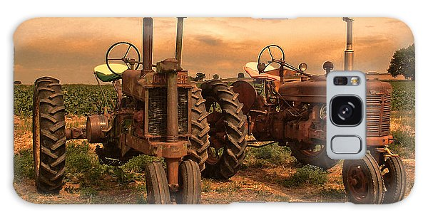 Sunset On The Tractors Galaxy Case by Ken Smith
