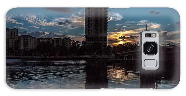 Sunset On The Water Galaxy Case