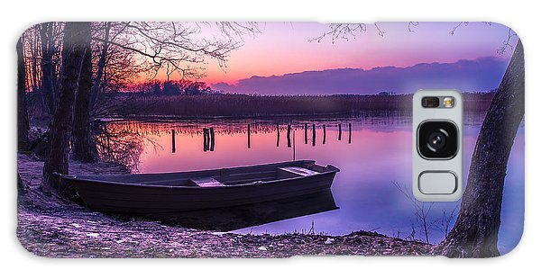 Sunset On The White Lake Galaxy Case