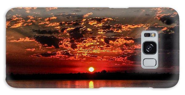 Sunset On The Zambezi Galaxy Case