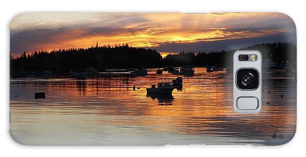 Sunset On Vinalhaven Maine Galaxy Case