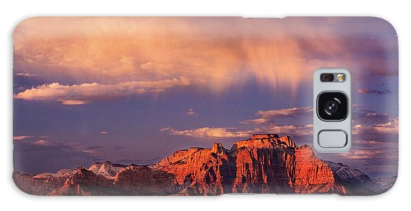 Sunset On West Temple Zion National Park Galaxy Case by Dave Welling