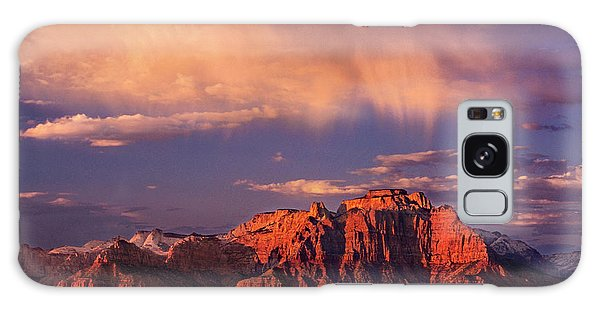Sunset On West Temple Zion National Park Galaxy Case