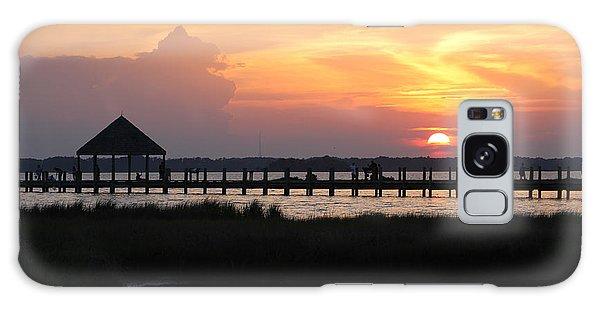 Sunset On Wetlands Walkway Galaxy Case