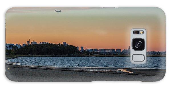 Sunset On Wollaston Beach In Quincy Massachusetts Galaxy Case