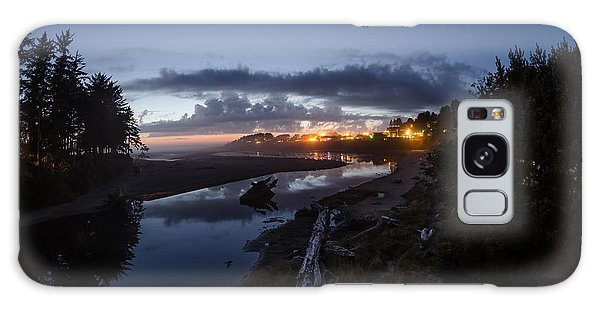 Sunset On Yachats River Galaxy Case