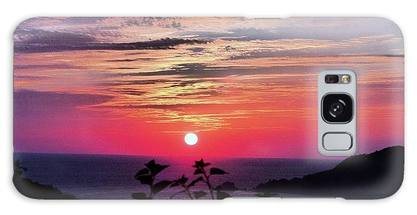 Sunset On Zihuatanejo Bay Galaxy Case