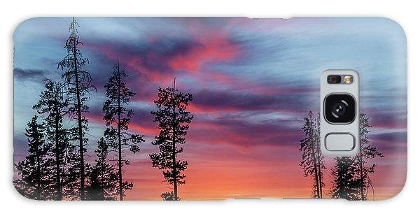 Sunset Over A Farmers Field, Cowboy Trail, Alberta, Canada Galaxy Case