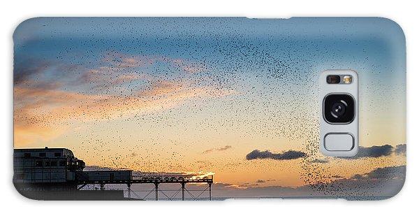 Sunset Over Aberystwyth Pier Galaxy Case