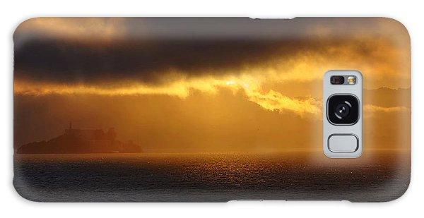 Sunset Over Alcatraz Galaxy Case