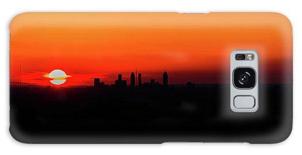 Sunset Over Atlanta Galaxy Case