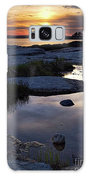 Sunset Over Boothbay Harbor Maine  -23095-23099 Galaxy Case
