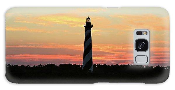 Sunset Over Cape Hatteras Light Galaxy Case