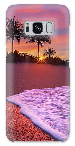 Sunset Over Coral Cove Park In Jupiter, Florida Galaxy Case by Justin Kelefas