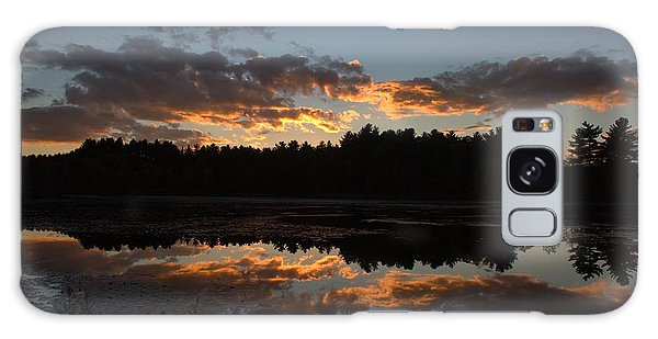 Sunset Over Cranberry Bogs Galaxy Case