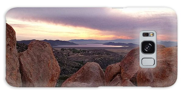 Sunset Over Diamond Valley Lake Galaxy Case