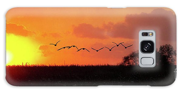 Sunset Over Easy Galaxy Case by Sue Stefanowicz