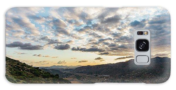 Sunset Over El Monte Valley Galaxy Case