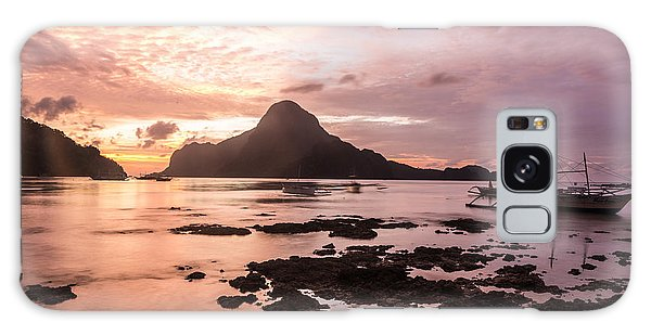 Sunset Over El Nido Bay In Palawan In The Philippines Galaxy Case