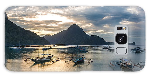 Sunset Over El Nido Bay In Palawan, Philippines Galaxy Case