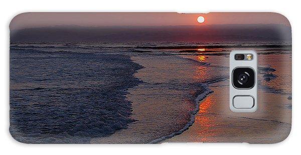 Sunset Over Exmouth Beach Galaxy Case