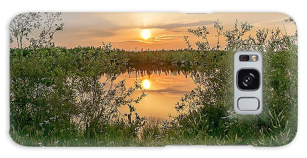 Sunset Over Fiddlers Lake Galaxy Case