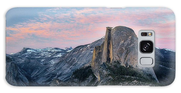 Sunset Over Half Dome Galaxy Case