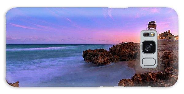 Sunset Over House Of Refuge Beach On Hutchinson Island Florida Galaxy Case