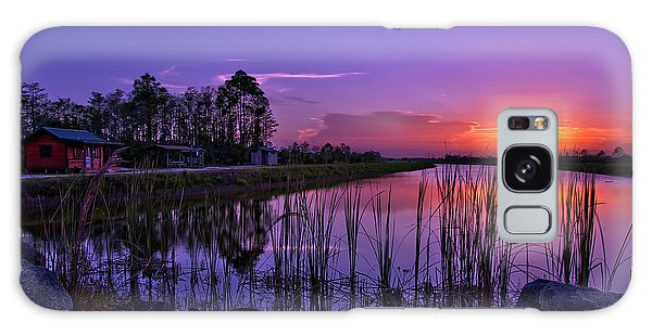 Sunset Over Hungryland Wildlife Management Area Galaxy Case by Justin Kelefas