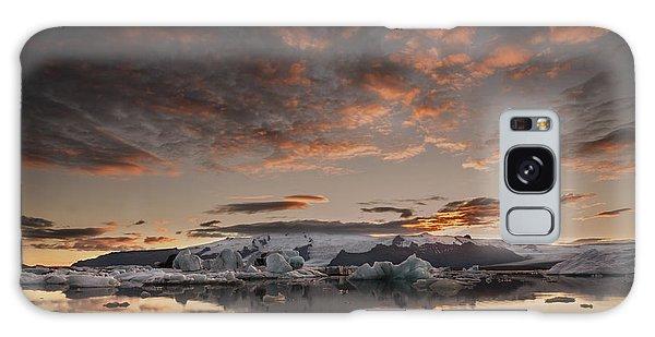 Sunset Over Jokulsarlon Lagoon, Iceland Galaxy Case by Chris McKenna