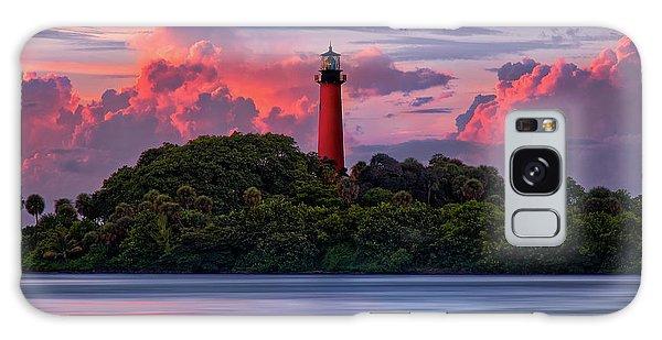 Sunset Over Jupiter Lighthouse, Florida Galaxy Case by Justin Kelefas