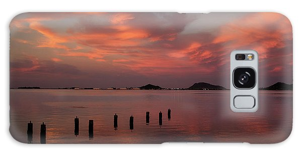 Sunset Over Kaneohe Bay Galaxy Case