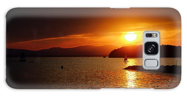 Sunset Over Lake Champlain Galaxy Case