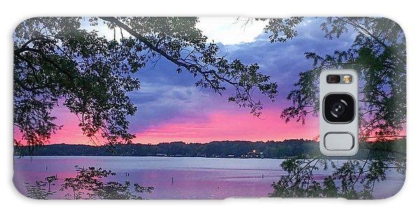 Sunset Over Lake Cherokee Galaxy Case