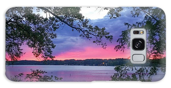 Sunset Over Lake Cherokee Galaxy Case