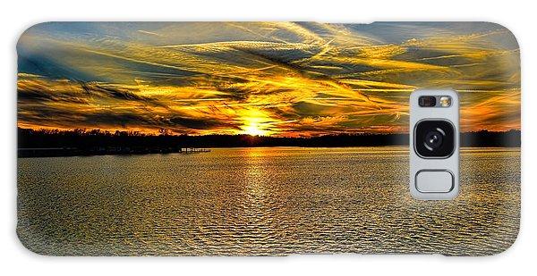 Sunset Over Lake Palestine Galaxy Case