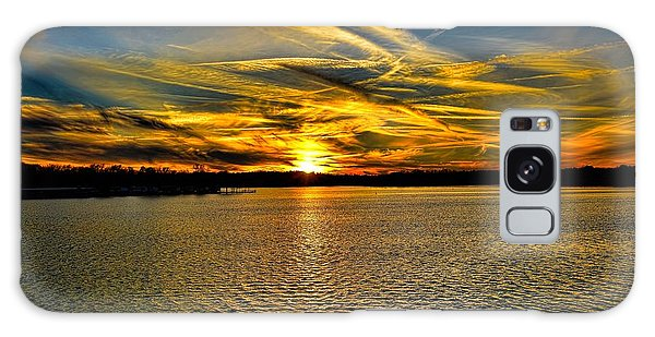 Sunset Over Lake Palestine Galaxy Case
