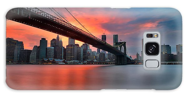 Broadway Galaxy Case - Sunset Over Manhattan by Larry Marshall