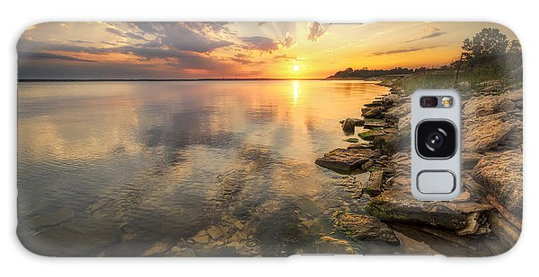 Sunset Over Milford Lake Galaxy Case