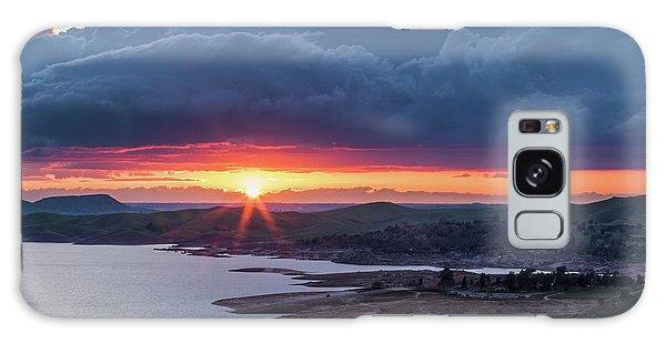 Sunset Over Millerton Lake  Galaxy Case