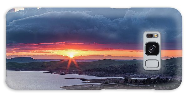 Sunset Over Millerton Lake  Galaxy Case