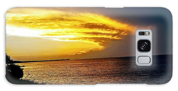 Sunset Over Mobile Bay Galaxy Case