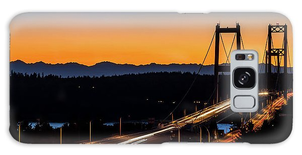 Sunset Over Narrrows Bridge Panorama Galaxy Case by Rob Green
