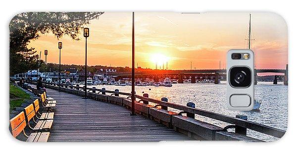 Sunset Over Newburyport Ma Merrimack River Newburyport Turnpike Galaxy Case
