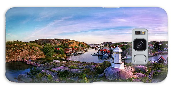 Sweden Galaxy Case - Sunset Over Old Fishing Port - Aerial Photography by Nicklas Gustafsson