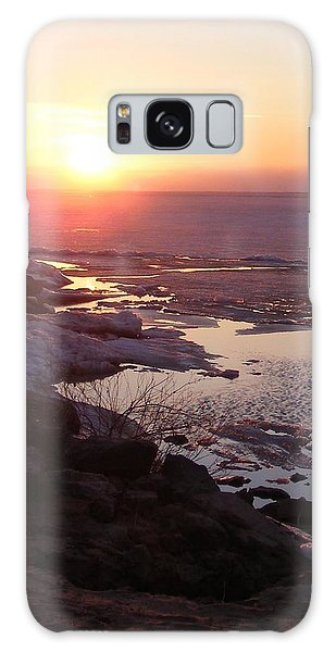 Sunset Over Oneida Lake - Vertical Galaxy Case