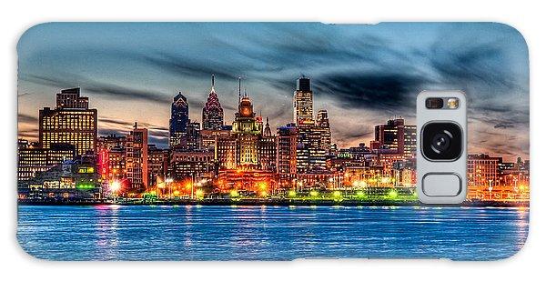 Sunset Over Philadelphia Galaxy Case