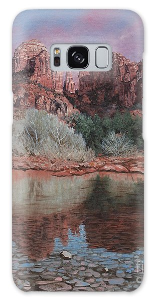 Sunset Over Red Rocks Of Sedona  Galaxy Case by Barbara Barber