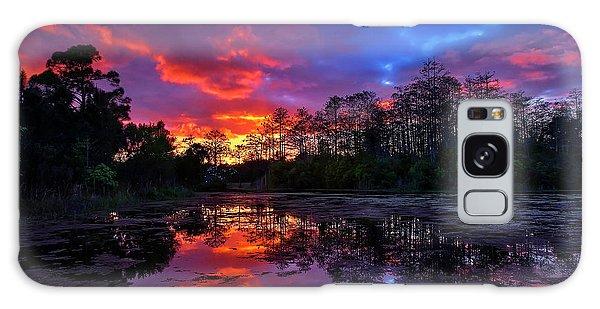 Sunset Over Riverbend Park In Jupiter Florida Galaxy Case
